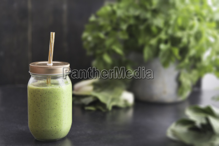 glass of vegetable smoothie