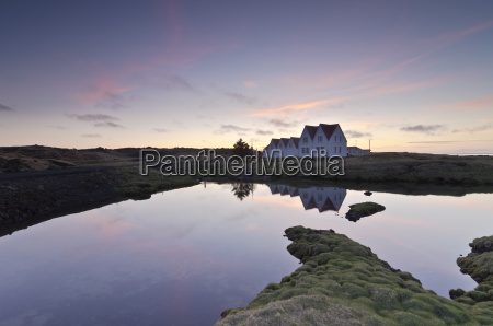 iceland straumur row houses in the