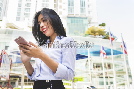 thailand bangkok smiling businesswoman in the