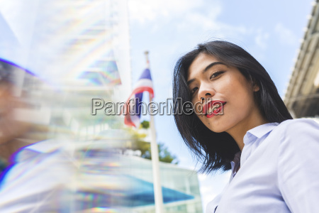 thailand bangkok portrait of smiling businesswoman