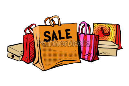 bags sale season discount isolate on