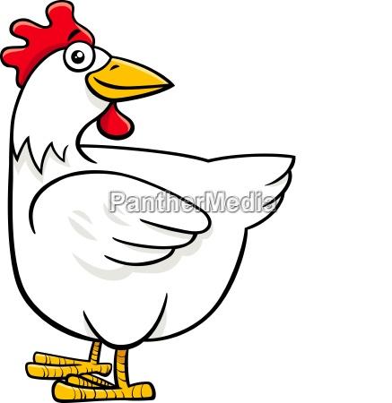hen or chicken cartoon farm character