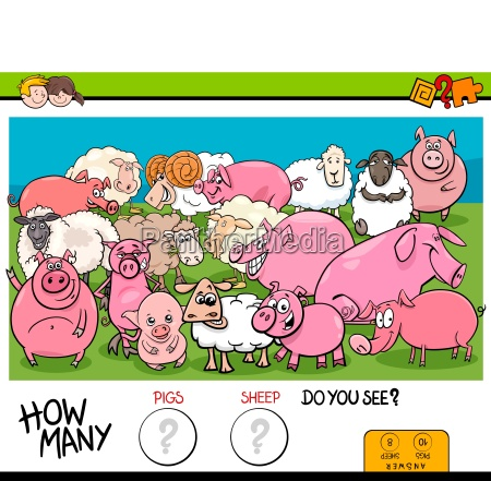 counting pigs and sheep educational game