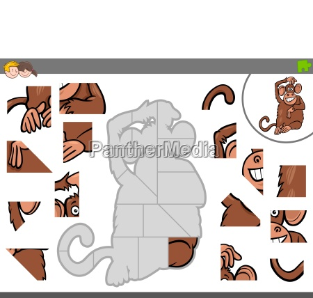 jigsaw puzzle game with monkey animal