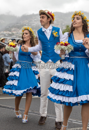 madeira flower festival parade in funchal