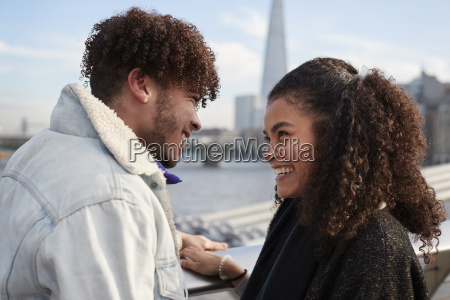 young tourist couple visiting london in