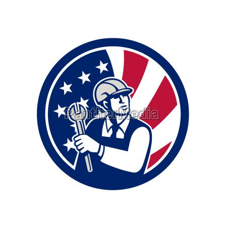 american engineer usa flag icon