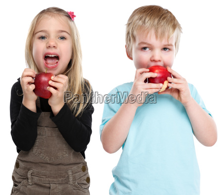 kinder apfel obst fruechte essen herbst
