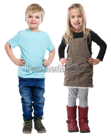 kids little boy girl blond full