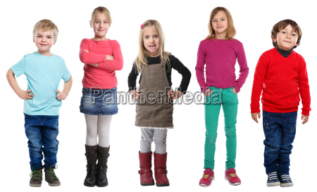 group kids little boy girl full
