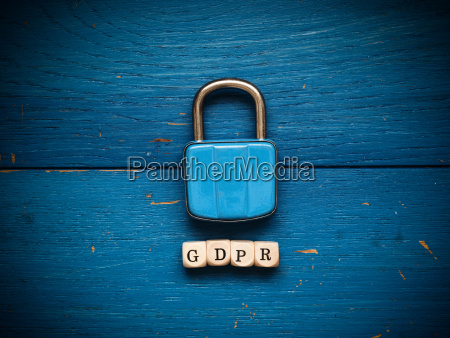 gdpr concept image on rustic blue