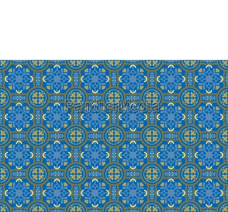 blue and gold mosaic background pattern