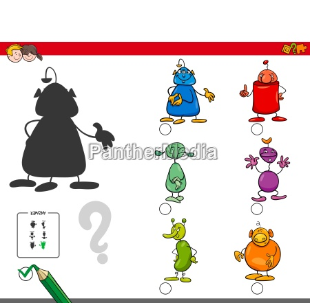 shadows activity game with alien characters