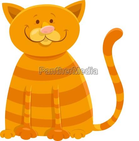 happy cat cartoon animal character