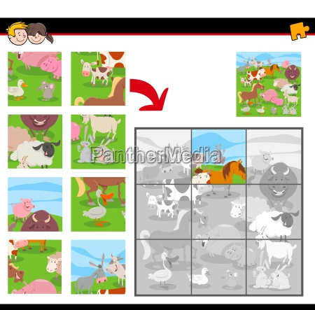 jigsaw puzzles with farm animals group