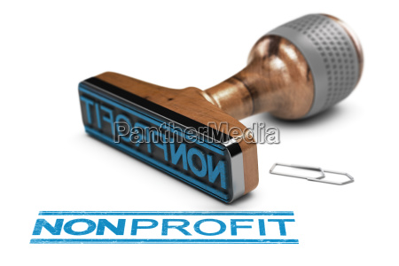 non profit organisation oder verein stempel