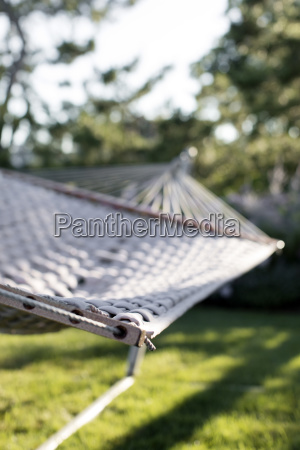 close up of hammock hanging over