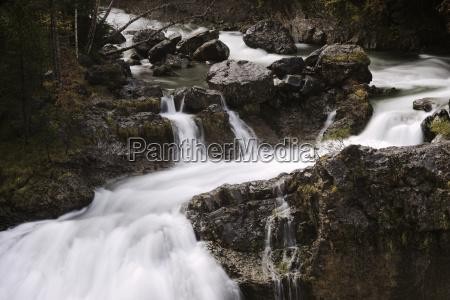 scenic view of waterfall at ordesa