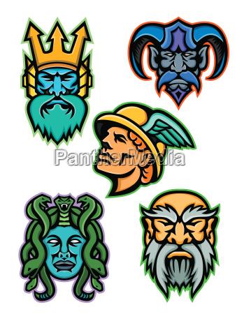 griechische mythologie goetter maskottensammlung