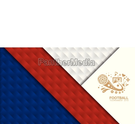 soccer tournament 2018 design template with