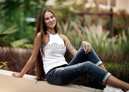 happy girl in the park