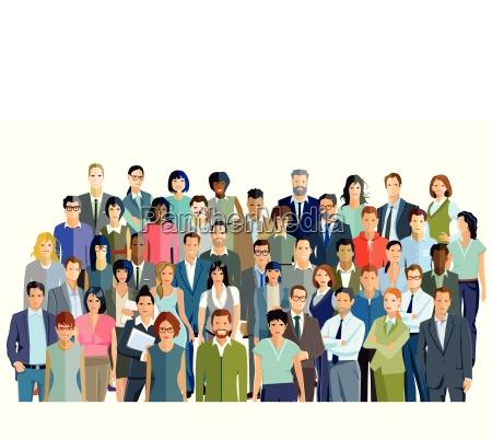 personengruppe und partnerschaft gruppenbild