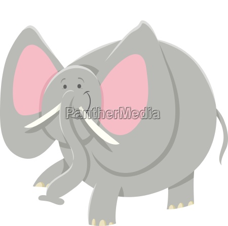 cartoon african elephant animal character