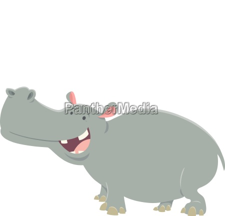 cartoon hippopotamus animal character