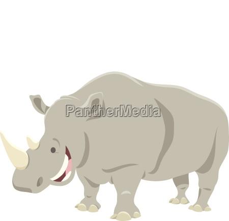 cartoon rhinoceros animal character