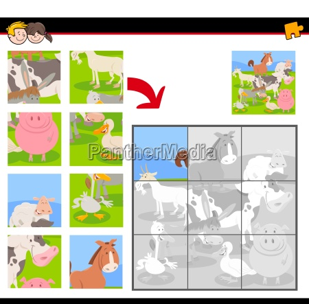 jigsaw puzzles with farm animal characters