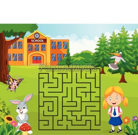 am finden labyrinth fund vorfinden schule