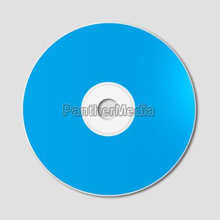 blaue cd dvd modellschablone lokalisiert