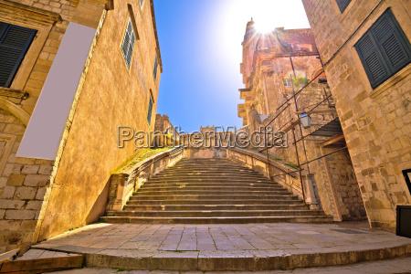 dubrovnik historic steps street view