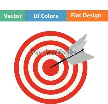 flat design icon of target with