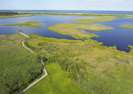 aerial view of green landscape by