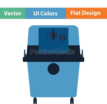 flat design icon of vacuum cleaner