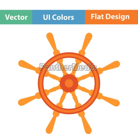 flat design icon of steering