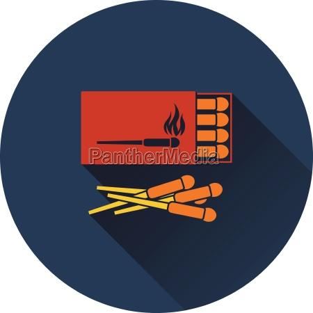 icon of match box