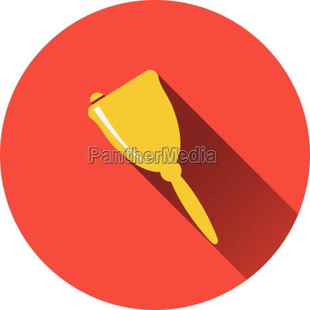 flat design icon of school hand