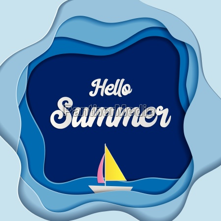 hello summer background use for greeting