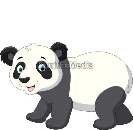 niedliche baby panda cartoon