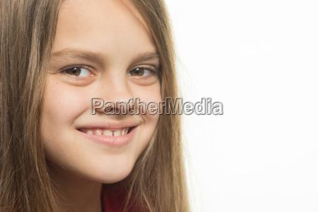 close up portrait of a smiling
