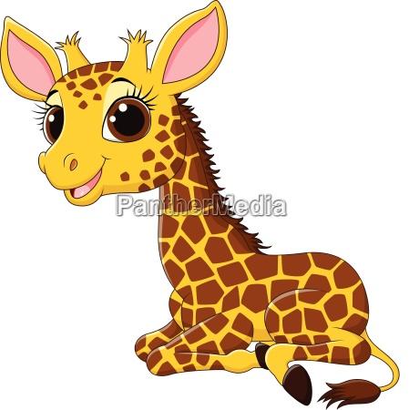 giraffenmaskottchen der karikatur lustiges lokalisiert auf