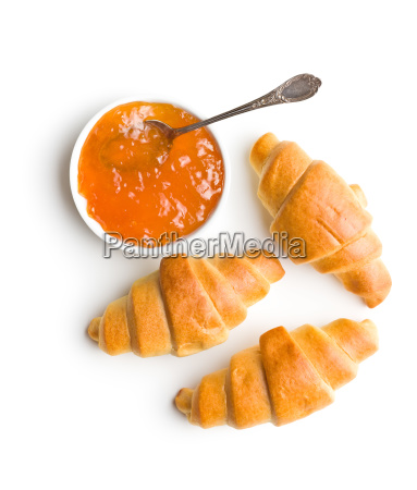sweet buttery croissants and fruity jam