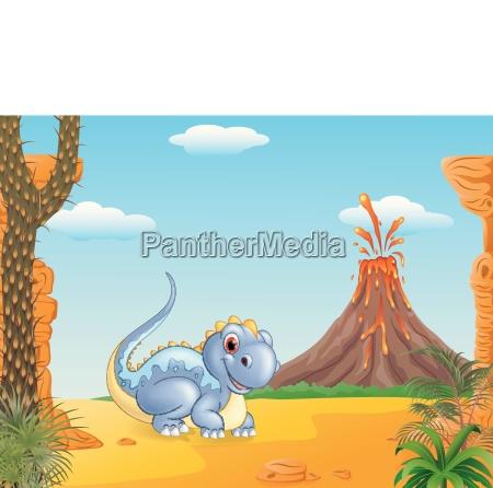 entzueckender dinosaurier der mit dem praehistorischen