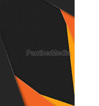 black background with hexagonal pattern