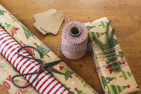 close up of twine by scissors