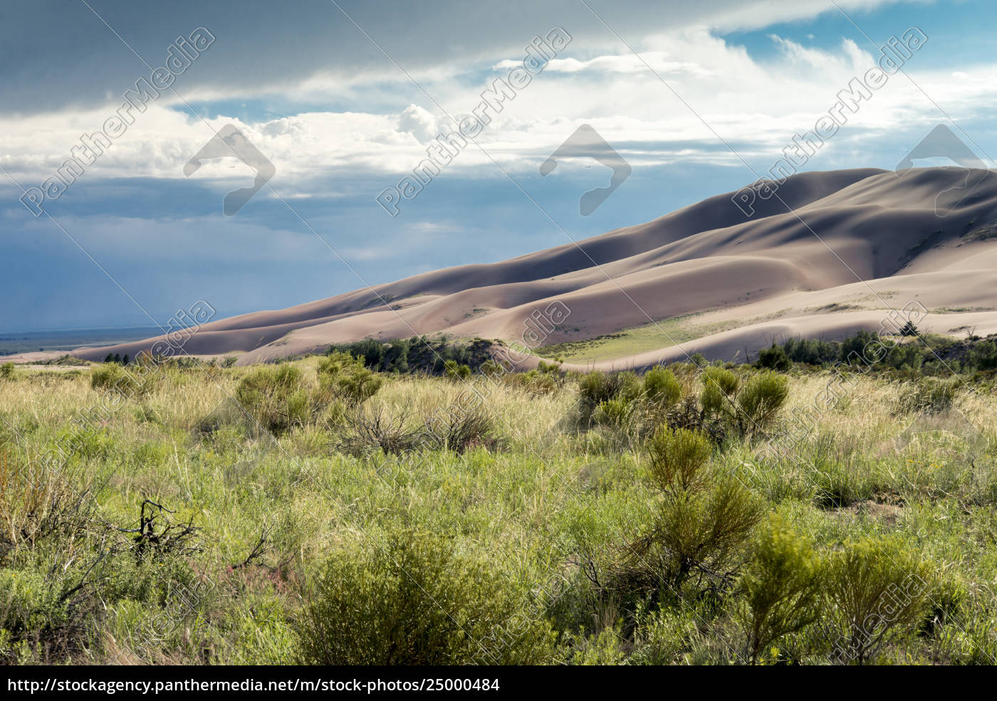 idyllischer, blick, auf, die, wüste, gegen - 25000484