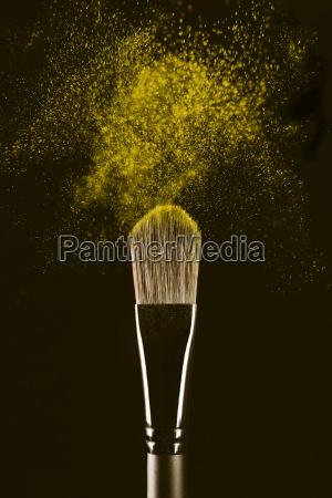 close up of make up brush