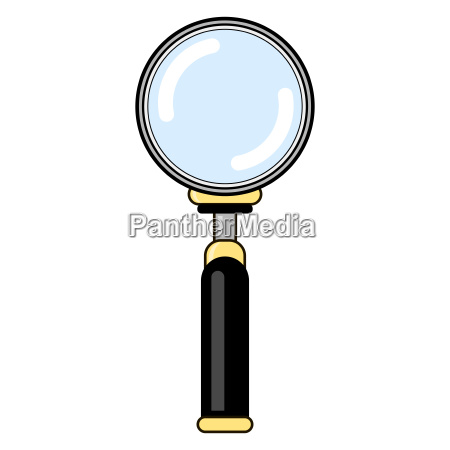 magnifying glass with reflection magnify icon